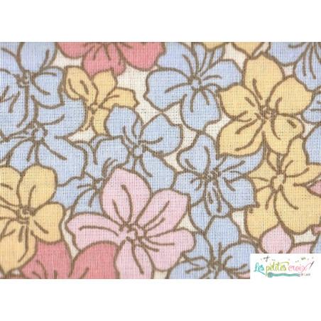 Tissu fleurs pastel