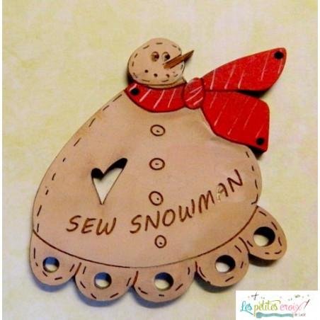 Snowman thread keeper