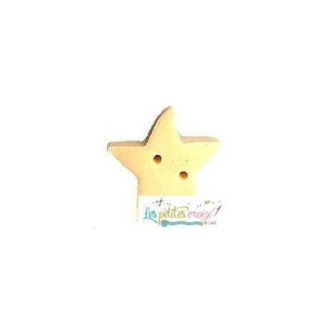 Bouton Medium Butter Star