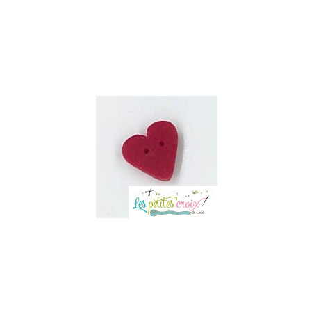 Bouton small true red heart