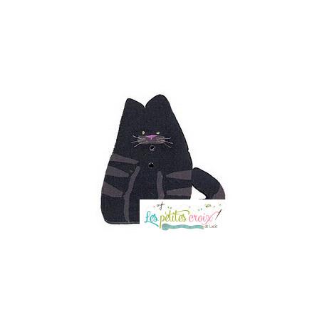 Bouton chat noir