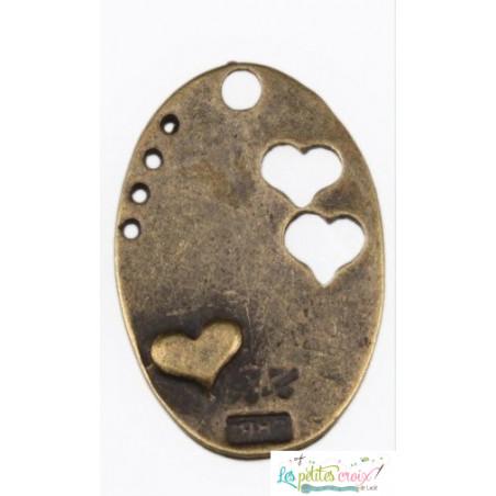 Charm plaque coeur