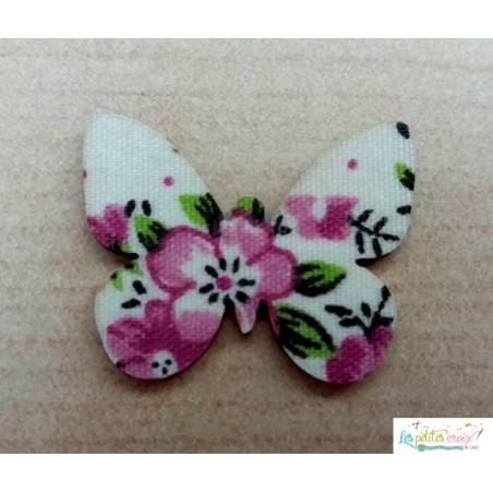 Papillon bois et tissu