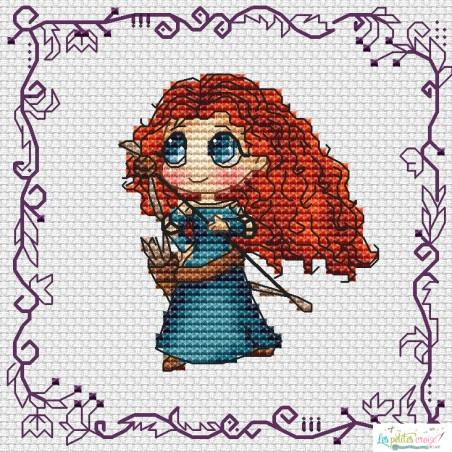 Baby Princess Merida (grille7)