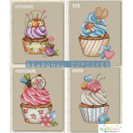 Seasonal cupcake Lot de 4