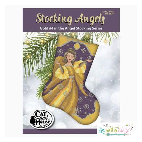 Stocking angels gold