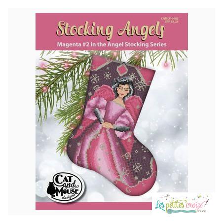 Stocking angels magenta