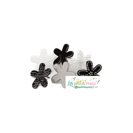 Fleurs noires et blanches