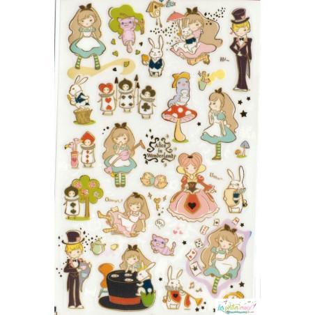 """Stickers """"Alice au pays des..."""