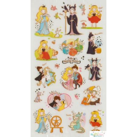 """Stickers """"La belle au bois..."""