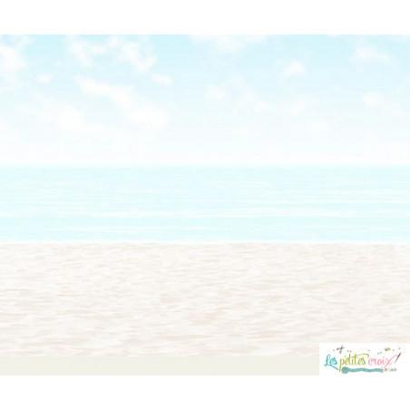 Sky sea sand etamine