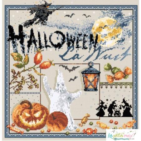 La nuit Halloween - Grille point de croix Madame La Fée