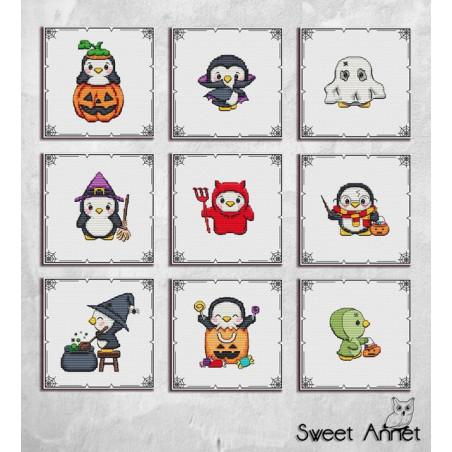 Grille point de croix Sweet Annet - Les fantômes d'Halloween