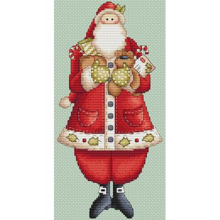 Grille point de croix - Santa Lovely - Les petites croix de Lucie