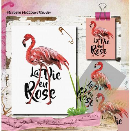 Grille point de croix - La vie en rose - Isabelle Vautier