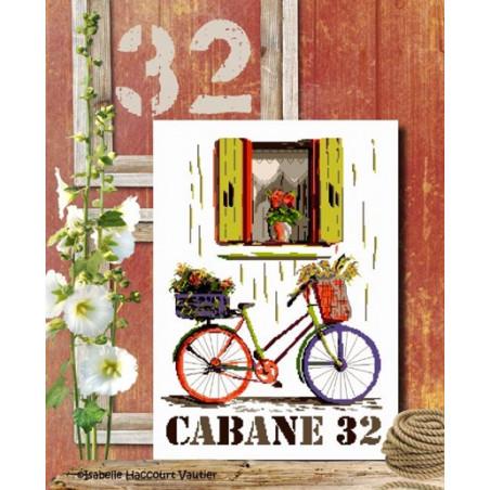 Grille point de croix - Cabane 32 - Isabelle Vautier