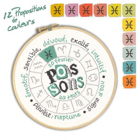 Grille point de croix - Poissons - Lili Points