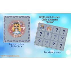 Projet complet de grilles de point de croix - Les princesses du zodiaque BELIER - Les petites croix de Lucie