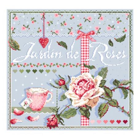 Grille point de croix - Le jardin de roses - Madame La Fée