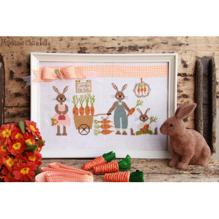 Grille point de croix - Carrots for sale - Madame Chantilly - Les petites croix de Lucie
