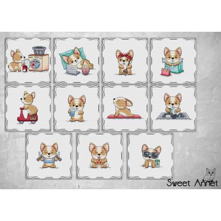 Grilles point de croix - Dogs Collection - Sweet Annet