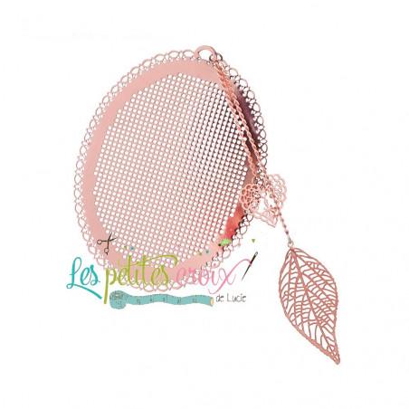 Marque page à broder - Coloris Doré - Les petites croix de Lucie