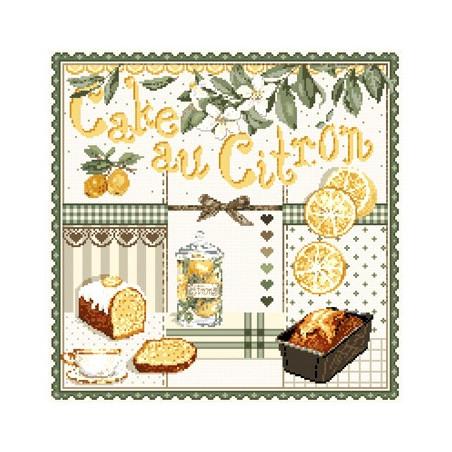 Grille point de croix - Cake au citron - Madame La Fée