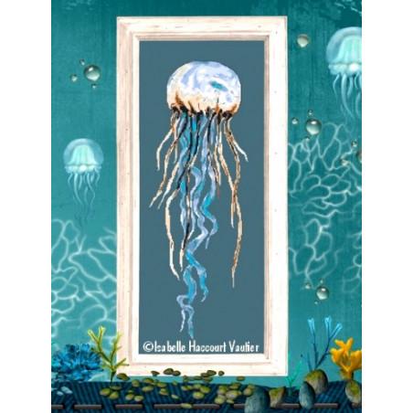 Grille point de croix - La méduse - Isabelle Vautier