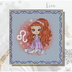 Projet complet de grilles de point de croix - Les princesses du zodiaque LION  - Les petites croix de Lucie