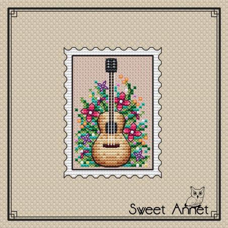 Grille point de croix - Timbre guitare - Sweet Annet