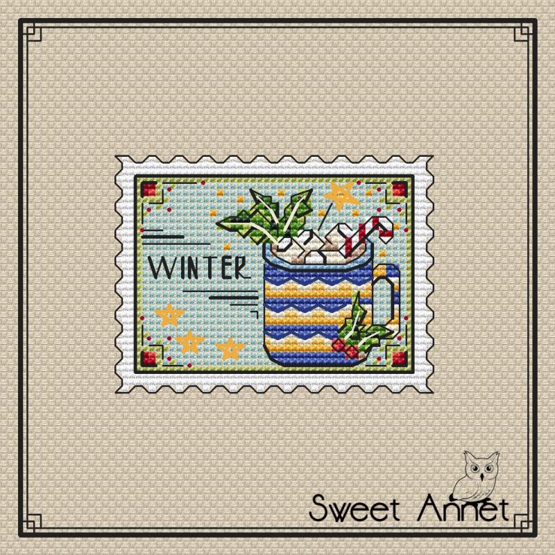 Grille point de croix - Timbre winter - Sweet Annet