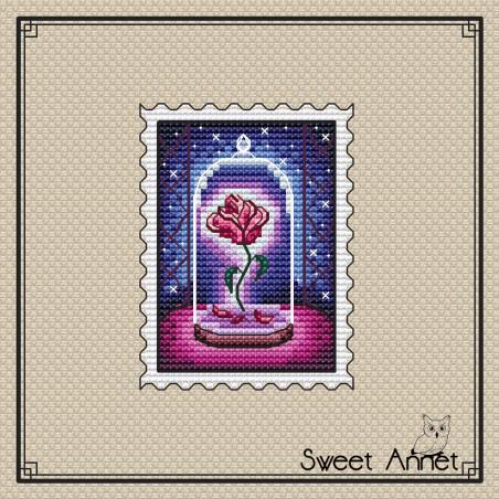 Timbre rose La Belle et la...