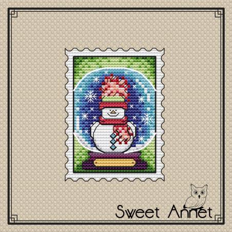 Grille point de croix  - Bonhomme de neige - Sweet Annet