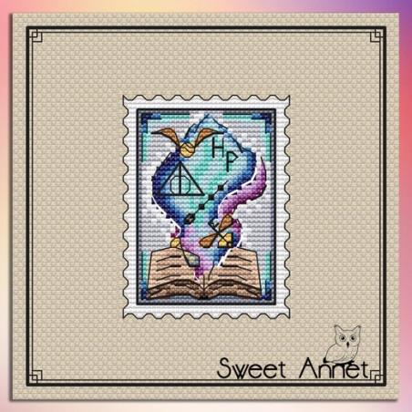 Grille point de croix  - Timbre génie disney - Sweet Annet