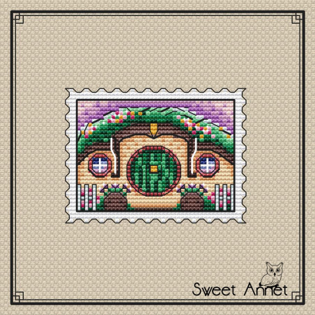 Grille point de croix - La maison du hobbit - Sweet Annet
