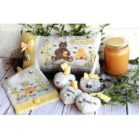 Grille point de croix - Save the bees - Madame Chantilly