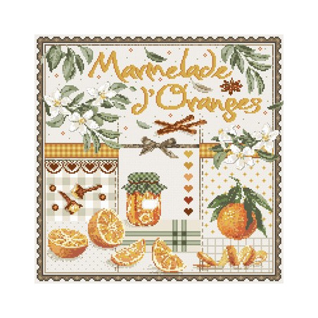 Grille point de croix - Marmelade d'oranges - Madame La Fée