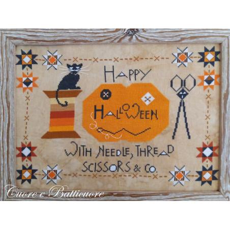 Grille point de croix - Happy Halloween - Cuore e Batticuore