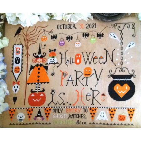 Grille point de croix - Halloween Party - Cuore e Batticuore