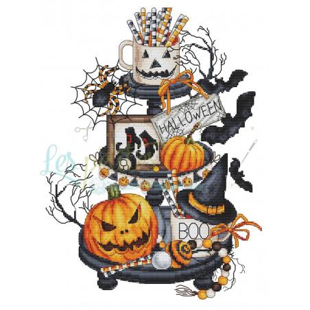 Grille point de croix - Etagère d'halloween - Les petites croix de Lucie