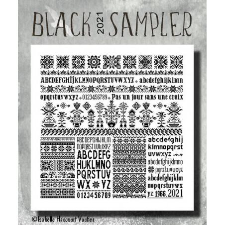 Grille point de croix - MARQ08 Black sampler 2021 - Isabelle Vautier