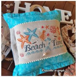 Grille point de croix - Beach Time - Croccette a Gogo