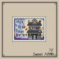 Grille point de croix - Timbre trick or treat - Sweet Annet