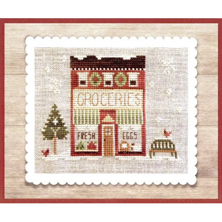 Grille point de croix - Hometown Holiday - Grocery Store - Little house needleworks