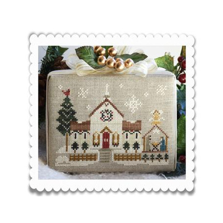 Grille point de croix - Hometown Holiday - Town church - Little house needleworks