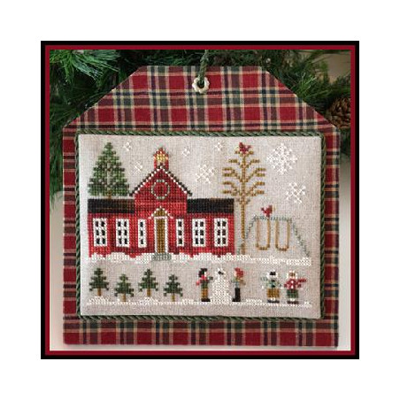 Grille point de croix - Hometown Holiday - Schoolhouse - Little house needleworks