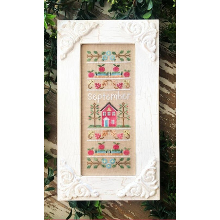 Grille point de croix - Sampler of the month September - Country cottage needleworks
