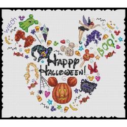 Grille point de croix - Happy Halloween - Les petites croix de Lucie