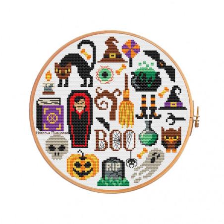 Grille point de croix - Halloween - Natalya Pitsaeva