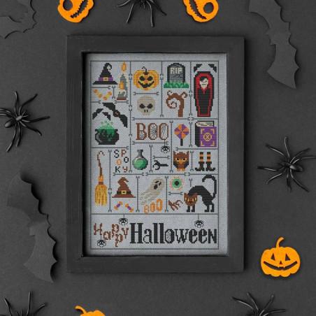 Grille point de croix - Halloween sampler - Natalya Pitsaeva